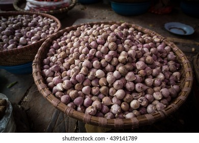 Shallots for sale in Hanoi street market