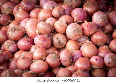 Shallots For Sale In A Market
