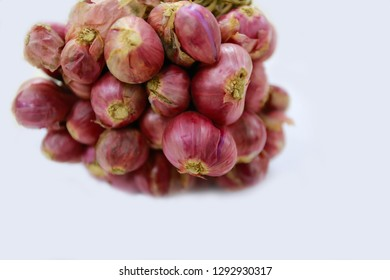 Shallots, shallots in white background for graphic design