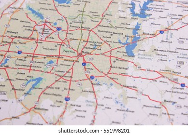 Map Of Texas Dallas Area.Dallas Map Images Stock Photos Vectors Shutterstock