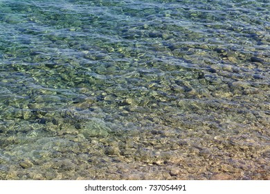 Shallow Sea Surface as Nature Background