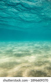 Shallow underwater view of sand