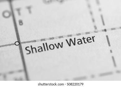 Shallow Water. Kansas. USA.