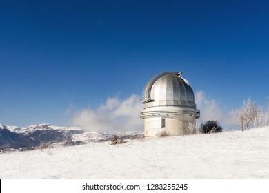 Shamakhi Astrological Observatory in winter time