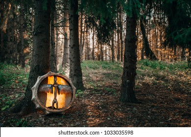 Shamanic forest drum