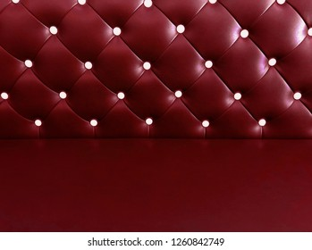 shameless beautiful bright leather sofa, background of white buttoned on luxury red leather pattern, Vip luxury red leather background with buttons, vintage leather cushion red color background