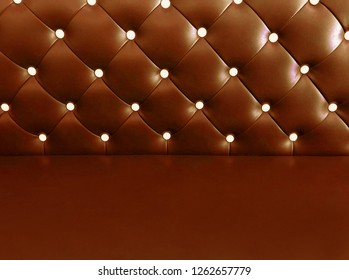 shameless beautiful bright leather sofa, background of white buttoned on luxury brown leather pattern, Vip luxury brown leather background with buttons, vintage leather cushion brown color background