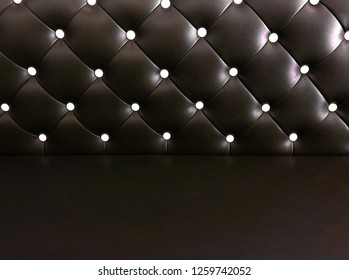 shameless beautiful dark leather sofa, background of white buttoned on luxury brown leather pattern, Vip luxury brown leather background with buttons, vintage leather cushion brown color background