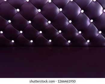 shameless beautiful dark leather sofa, background of white buttoned on luxury violet leather pattern, Vip luxury pruple leather background with buttons, vintage leather cushion purple color background