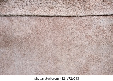 Shammy leather texture or background, seamy side