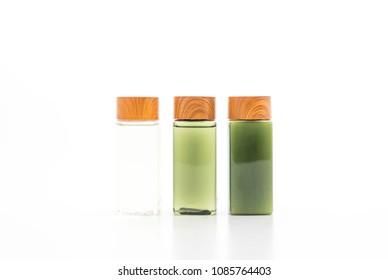 shampoo bottle and conditioner bottle isolated on white background