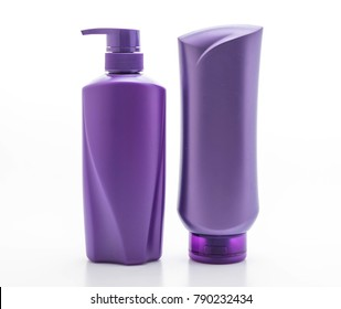 shampoo or hair conditioner bottle isolated on white background