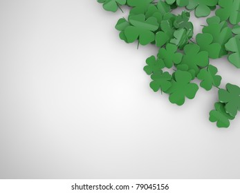 Shamrock corner background