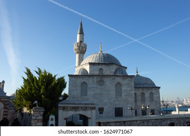 Shamsi Ahmed Pasha mosque. The creator was Vizier Şemsi Ahmed pasha. Its construction date is 988, that is 1580. Its architect is Mimar Sinan. Istanbul Turkey. January 12, 2020: