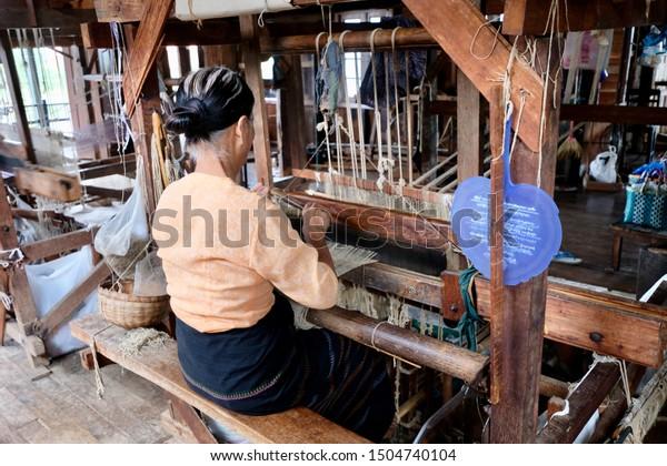 Shan Statemyanmarsep2019 One Female Burmese Sitting Stock Photo Edit Now 1504740104