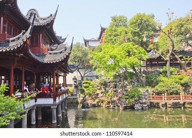 SHANGHAI - APRIL 24: Yuyuan Garden, Shanghai's landmark with typical building architecture, Shanghai, China on April 24, 2011. Built during the Ming Dynasty, it was declared national monument in 1982.
