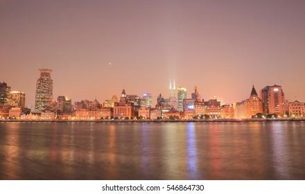 Shanghai Bund cityscape China