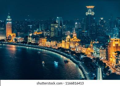 Shanghai the bund night view