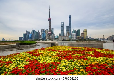 Shanghai Bund and Pudong New Area