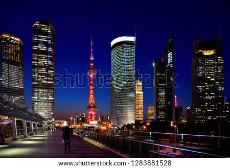 shanghai-china-13052017-colorful-light-4