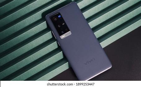 Shanghai, China - 21 January 2021: vivo X60 Pro+