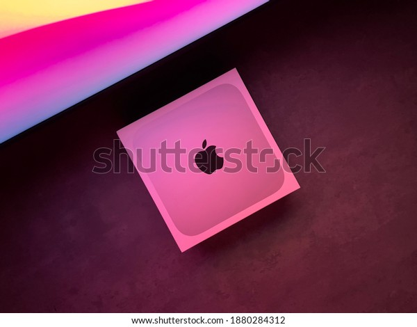 Shanghai, China - 22 December 2020: Mac Mini 2020