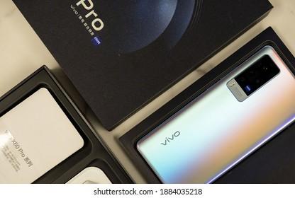 Shanghai, China - 29 December 2020: vivo X60 Pro