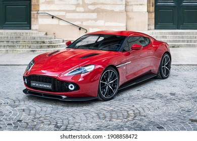 Shanghai, China - 3 February 2021: Aston Martin Vanquish Zagato