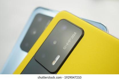 Shanghai, China - 4 March 2021: Realme GT 5G