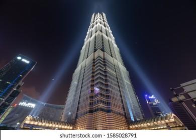 Shanghai, China - 7 June 2019: JinMao Tower in Pudong Shanghai