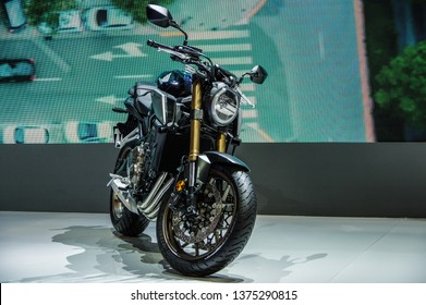 Shanghai, China - April 16 2019: Auto Shanghai 2019 (18th Shanghai International Automobile Industry Exhibition) Honda Motorbike booth