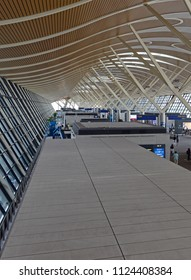 SHANGHAI CHINA CIRCA JUNE 2018. Shanghai Pudong International Airport is one of the larger airports that is exploring the use of full body scanners to aid in security