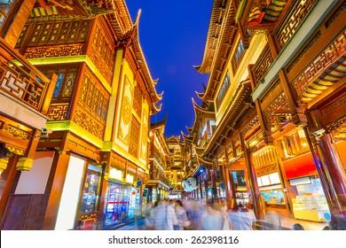 Shanghai, China citycape at Yuyuan district.