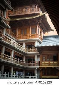 SHANGHAI, CHINA, JULY 16, 2016, Jing'an God's temple