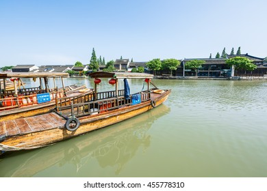 Shanghai, China - June 30, 2016: the famous ancient town of zhujiajiao attractions landscape,Zhujiajiao is a famous historical and cultural town of Shanghai.