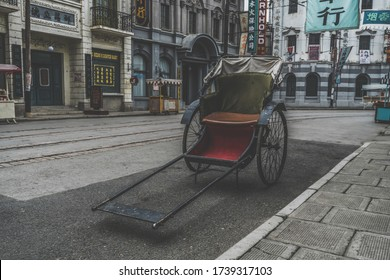 Shanghai, China: March 10, 2017: Shanghai film and television city is mainly the old Shanghai style, reproducing the classic scenes and buildings of Shanghai at the beginning of the last century.