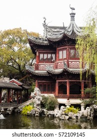 Shanghai, China - March 20, 2016: Springtime in traditional Yuyuan garden