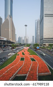 SHANGHAI, CHINA - MAY 05, 2016: Modern buildings of the Lujiazui financial centre
