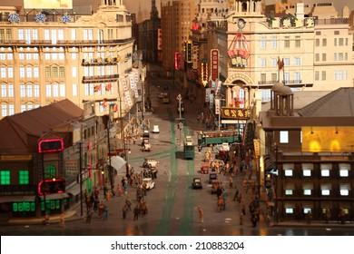 SHANGHAI, CHINA - NOV 18: Miniature model of the old Shanghai. November 18, 2010 in Shanghai, China