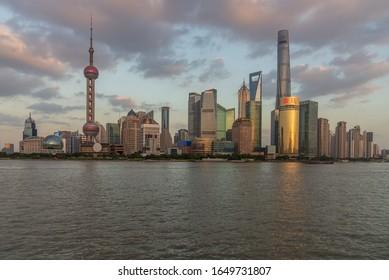 SHANGHAI, CHINA - Nov,19, 2019: The Bund of shanghai china.ShangHai is the economic center of china.