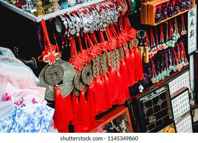 Shanghai, China - Oct 30, 2017: Chinese Traditional Souvenir store