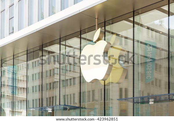 Shanghai, China - on May 11, 2016: the apple store in nanjing road shopping street of Shanghai, the company is a high-tech company in the United States,Headquartered in cupertino, California.