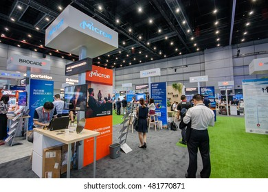 SHANGHAI, CHINA - SEPTEMBER 2, 2016: Booth of Micron company at Connect 2016 information technology conference and exhibition in Shanghai, China on September 2, 2016.