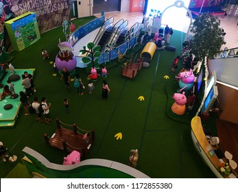 Shanghai, China - September 6 2018: Peppa Pig indoor amusement in a mall