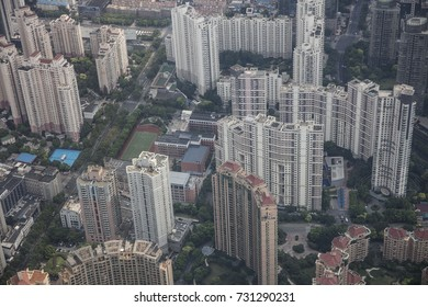 SHANGHAI, CHINA - September 8, 2017: Shanghai Pudong  view from the Shanghai tower.