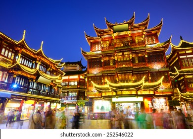 Shanghai, China at Yuyuan Garden district.