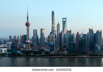 Shanghai city building scenery