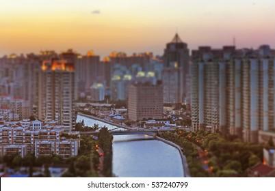 Shanghai city creek / Tilt and shift