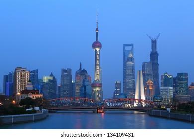 Shanghai City night scene