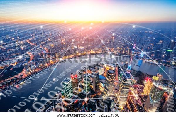 Shanghai City Scenery big data